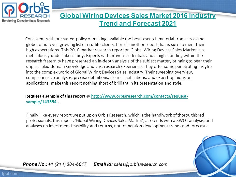 global wiring devices sales market 2016 industry trend and forecast rh slideplayer com Leviton Wiring Devices Hubbell Wiring Devices