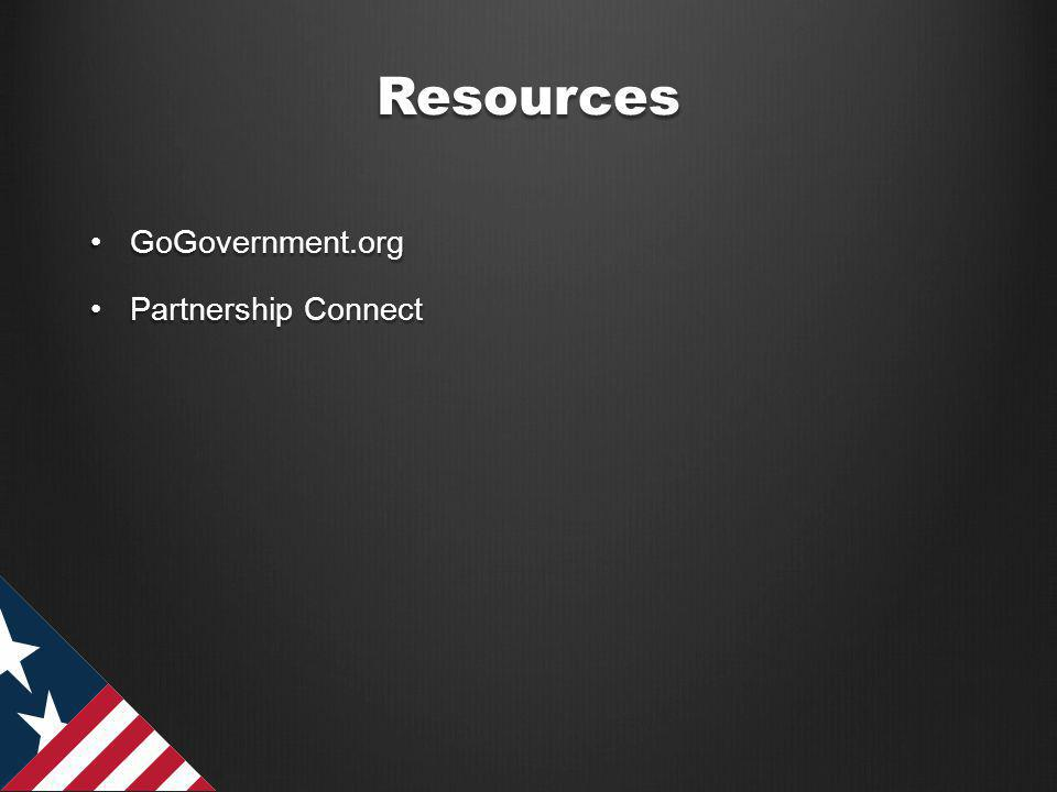 Resources GoGovernment.orgGoGovernment.org Partnership ConnectPartnership Connect