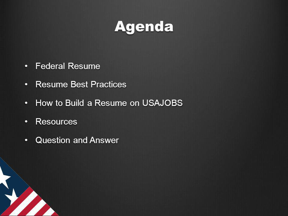 Straight to the Source What are the advantages of using the USAJOBS Resume Builder tool to create a federal resume?What are the advantages of using the USAJOBS Resume Builder tool to create a federal resume.