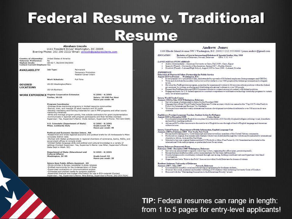Federal Resume v.