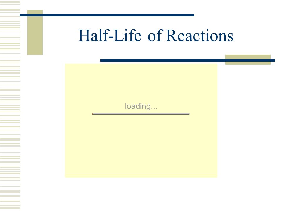 Half-Life of Reactions