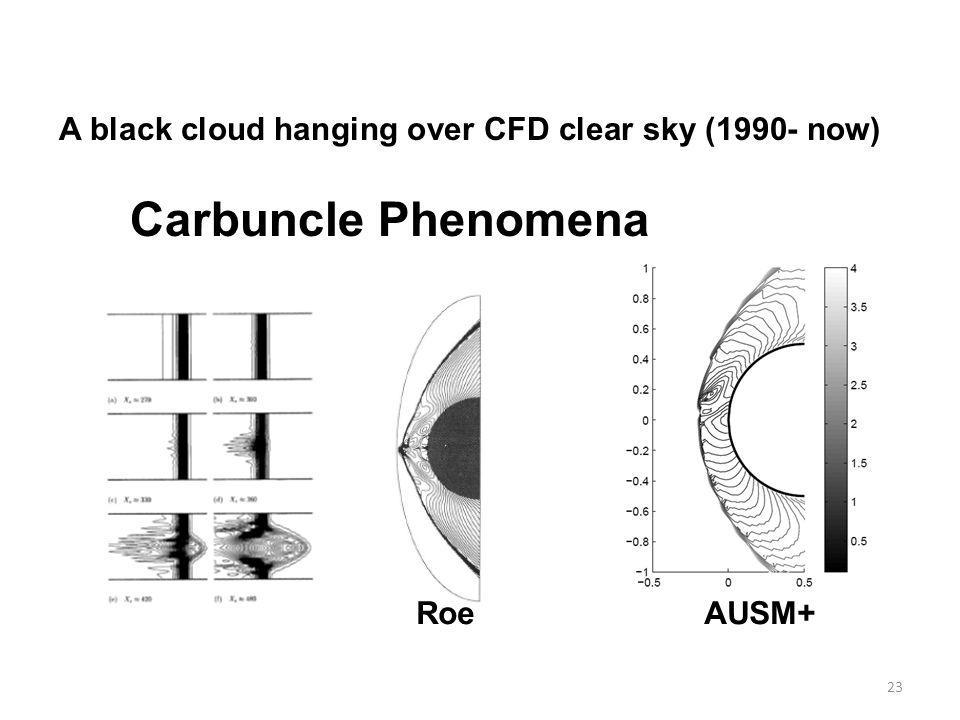 23 A black cloud hanging over CFD clear sky (1990- now) Carbuncle Phenomena RoeAUSM+