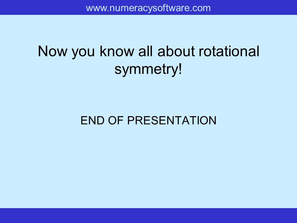 www.numeracysoftware.com Rotational Symmetry with 7-Pin Polygons Rotational Symmetry Order 2 Rotational Symmetry Order 6 Rotational Symmetry Order 3 C