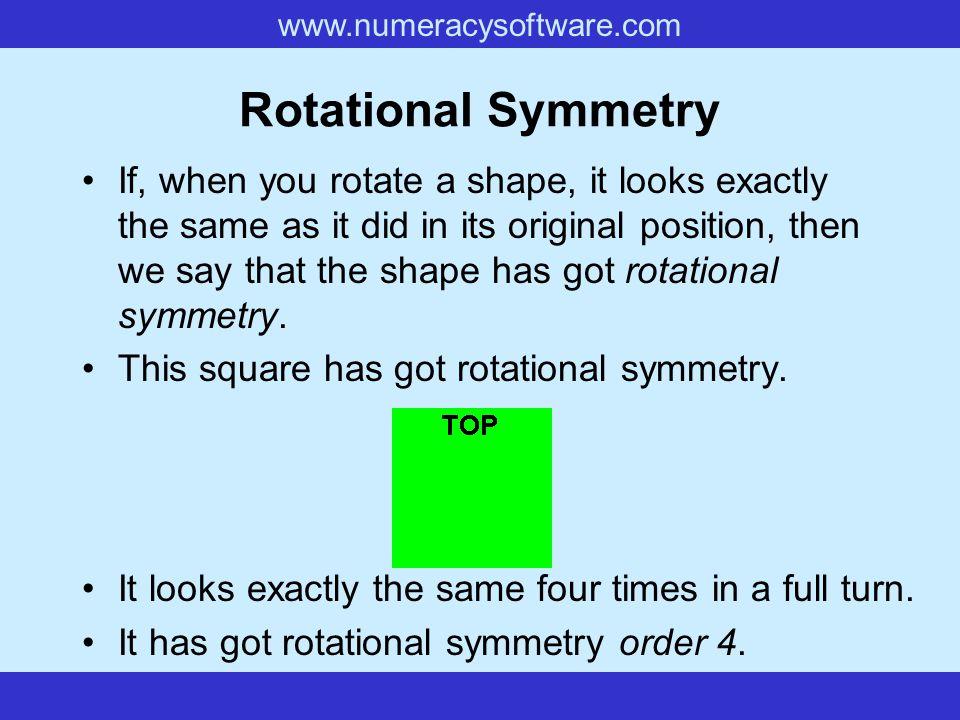 www.numeracysoftware.com Rotational Symmetry