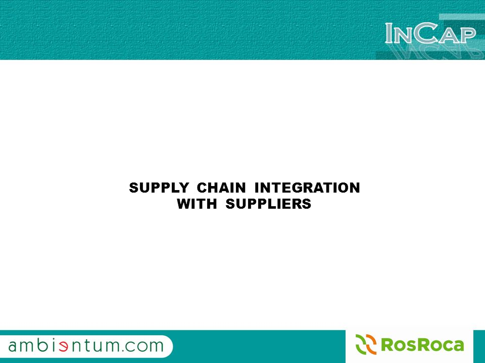 INCAP SYSTEM We introduce the new INCAP SYSTEM, developed by AMBIENTUM and ROS ROCA, wich is the way used for the industrial companies of ROS ROCA GROUP to send purchase order to the Suppliers.