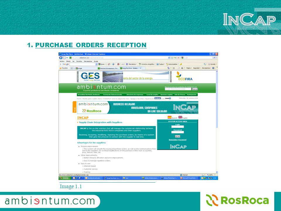 Image 1.1 1. PURCHASE ORDERS RECEPTION