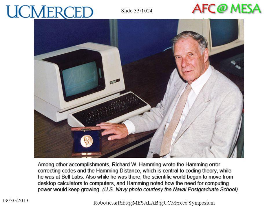 AFC @ MESA LAB 08/30/2013 Robotics&Ribs@MESALAB@UCMerced Symposium Slide-35/1024