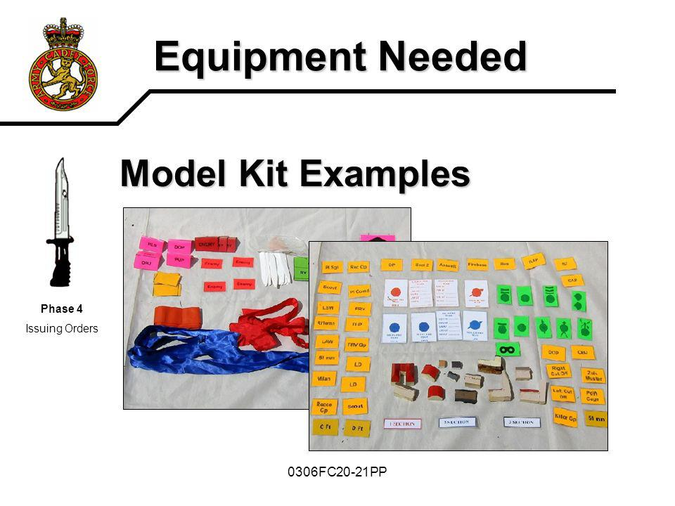 0306FC20-21PP Equipment Needed Model Kit Examples Phase 4 Issuing Orders