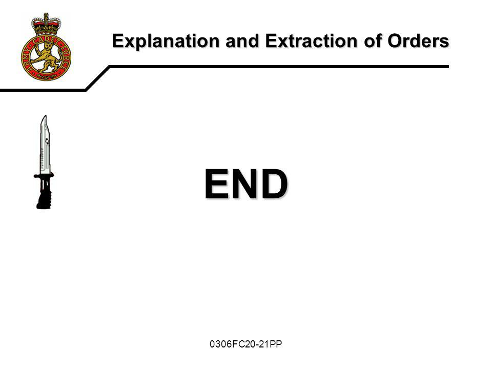 0306FC20-21PP Explanation and Extraction of Orders END