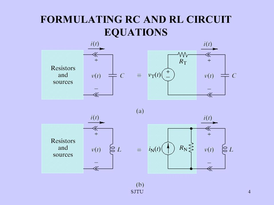 SJTU4 FORMULATING RC AND RL CIRCUIT EQUATIONS