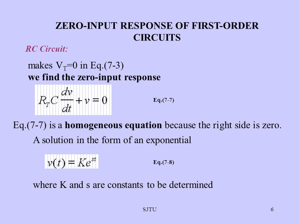 SJTU37 forced response natural response Zero-input response Zero-state response