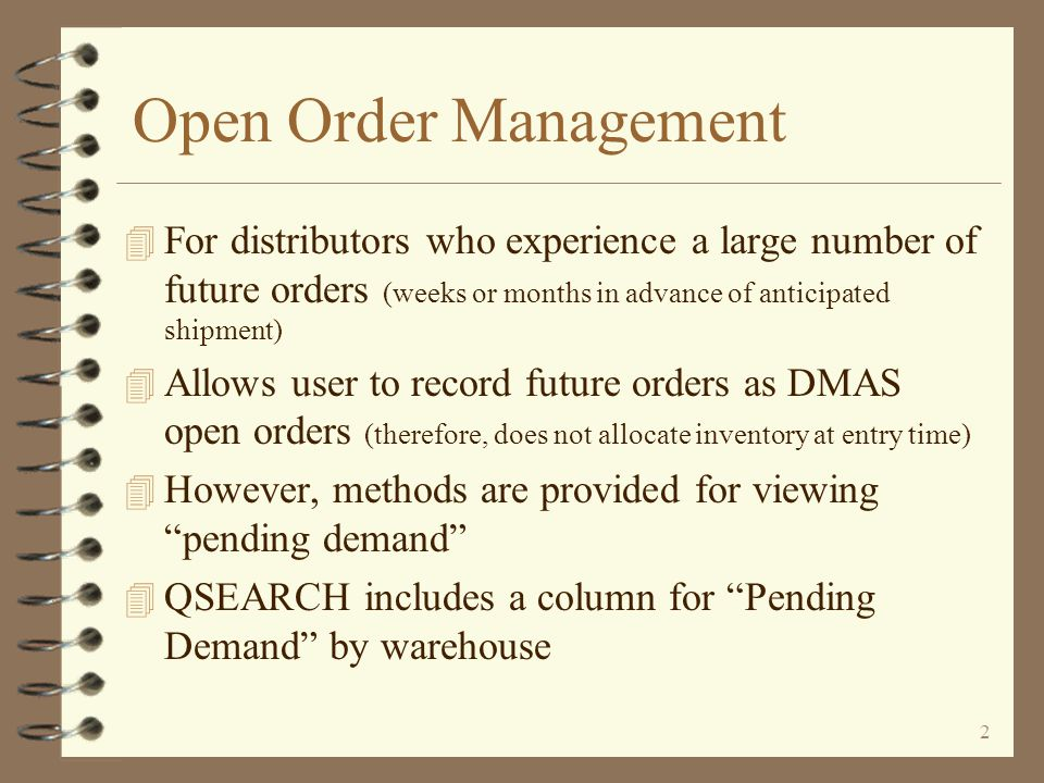 Open Order Management (OOMGT) An Enhancement For iSeries 400 DMAS from Copyright I/O International, 2003, 2007 Skip Intro