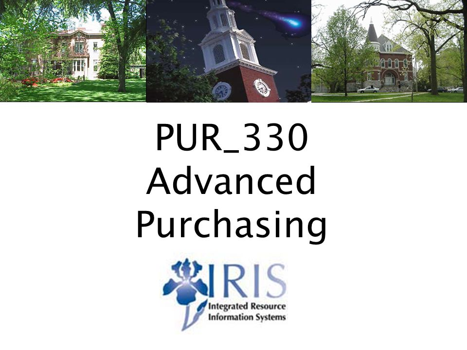 Advanced Purchasing PUR_330 v21 PUR_330 Advanced Purchasing