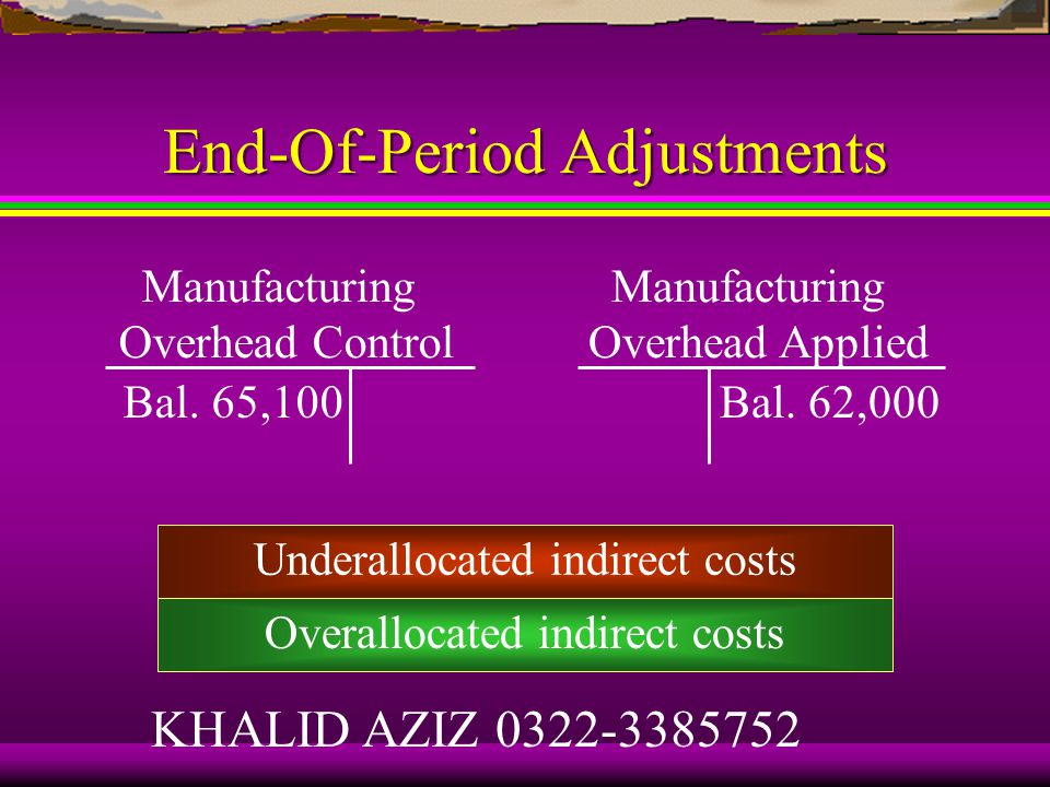 Learning Objective 6 Account for end-of-period underallocated or overallocated indirect costs using alternative methods.