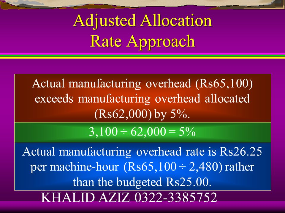 End-Of-Period Adjustments Approaches to disposing underallocated or overallocated overhead: 1.