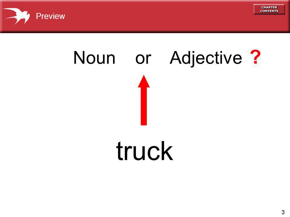 3 Noun or Adjective truck Preview ?