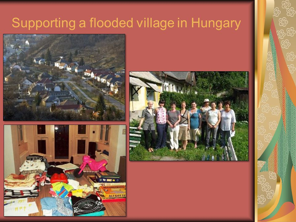 Supporting a flooded village in Hungary