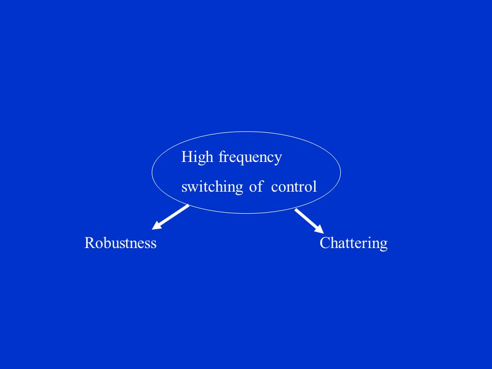 RobustnessChattering High frequency switching of control