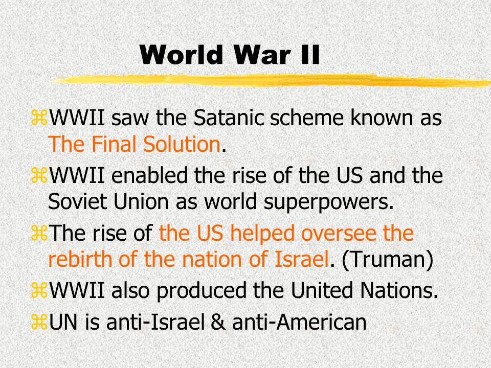 World War I zWWI changed the power structure of the world, eliminating the Ottoman Empire as being the power in the Middle East.