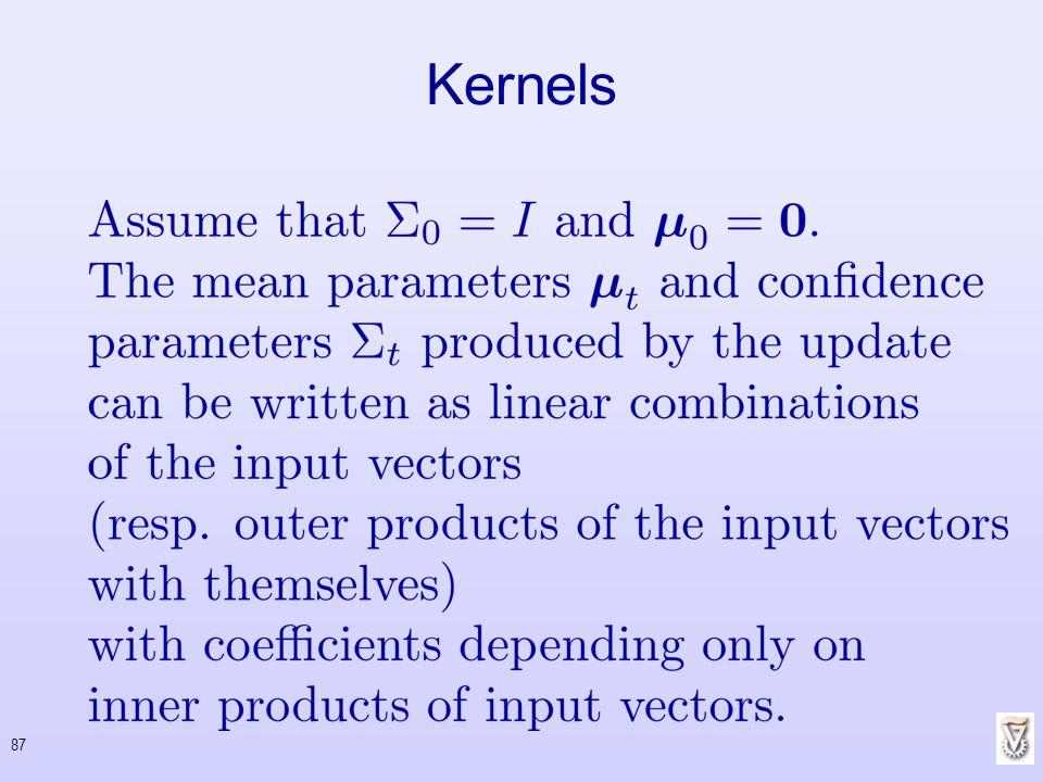 87 Kernels