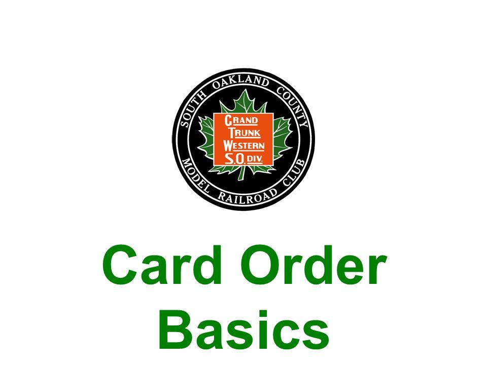 Card Order Basics