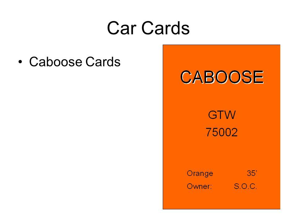 Car Cards Caboose Cards