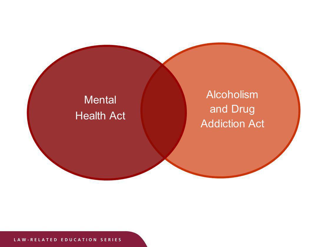 Mental Health Act Alcoholism and Drug Addiction Act