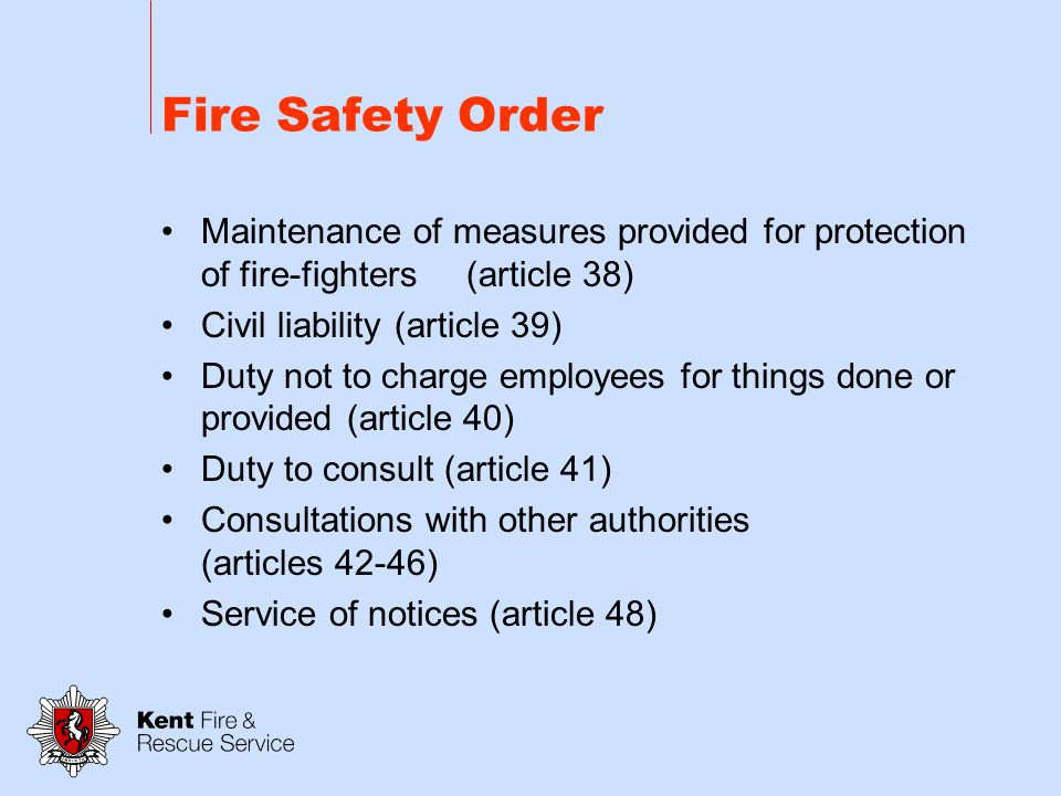 Fire Safety Order Onus of proving limits of what is practicable or reasonably practicable (article 34) Appeals (article 35) Determination of disputes by Secretary of State (article 36) Fire-fighters switches for luminous tube signs (article 37)