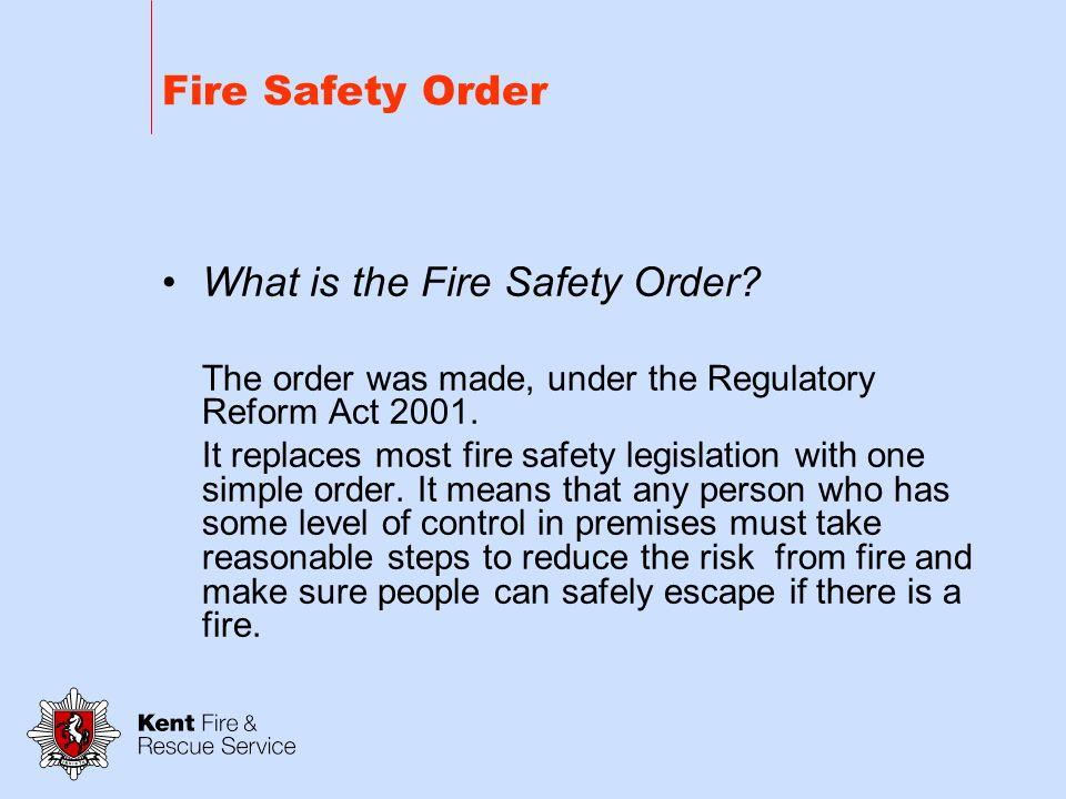 Regulatory Reform (Fire Safety) Order 2005