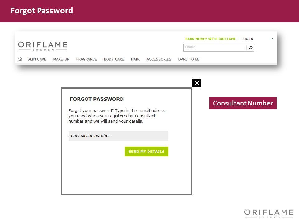 Consultant Number Forgot Password