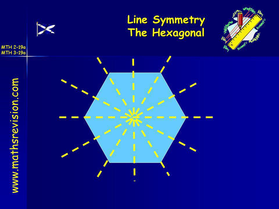 Line Symmetry The Hexagonal www.mathsrevision.com MTH 2-19a MTH 3-19a
