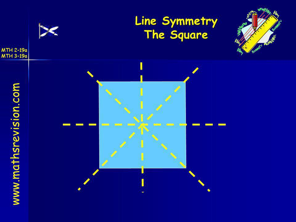 Line Symmetry The Square www.mathsrevision.com MTH 2-19a MTH 3-19a