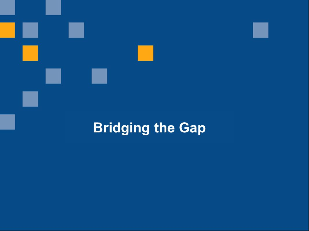 12 What is the innovation supply chain? Bridging the Gap