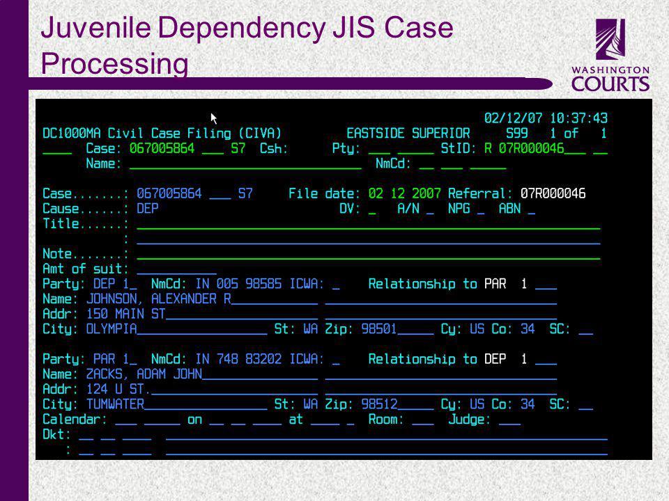 c Juvenile Dependency JIS Case Processing