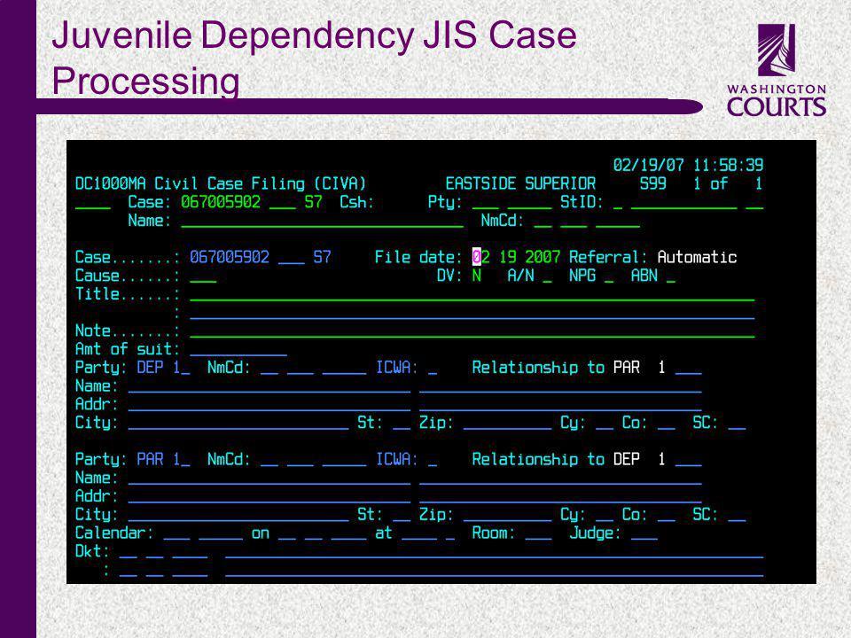 c Juvenile Dependency JIS Case Processing