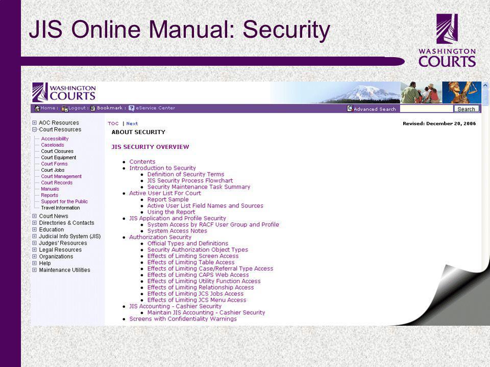 c JIS Online Manual: Security