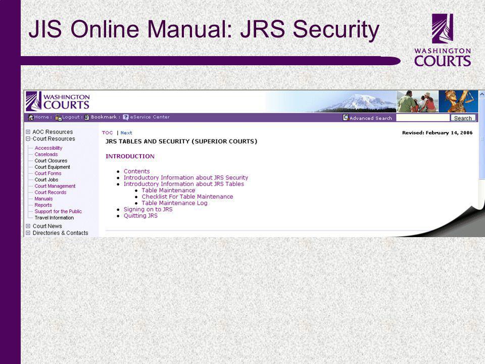 c JIS Online Manual: JRS Security