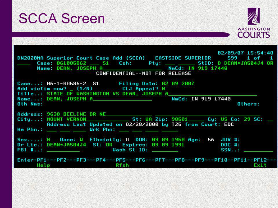 c SCCA Screen