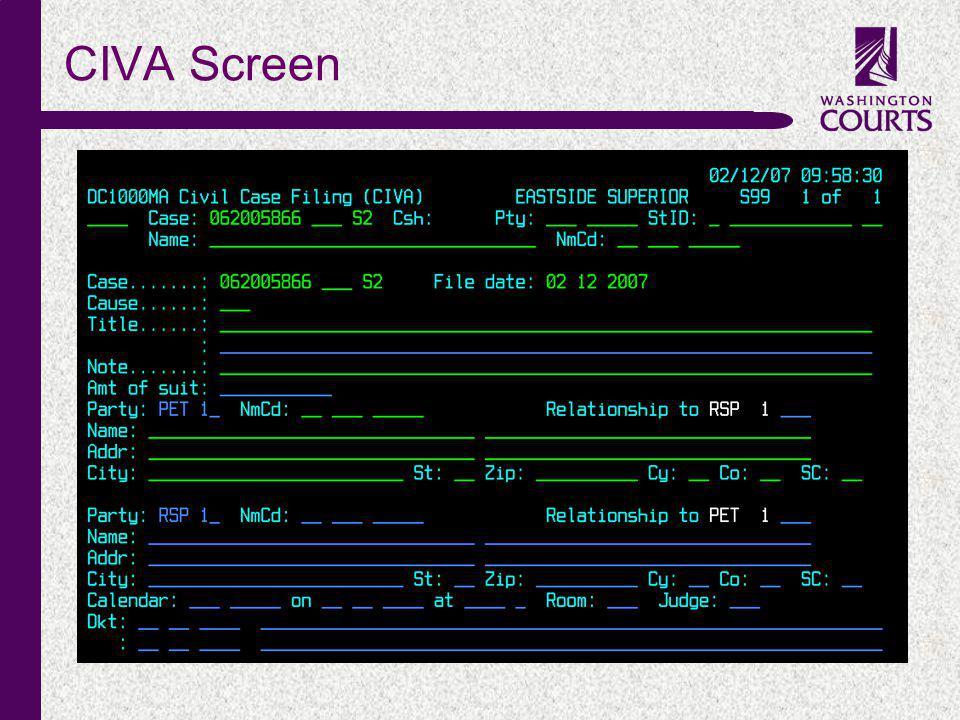c CIVA Screen
