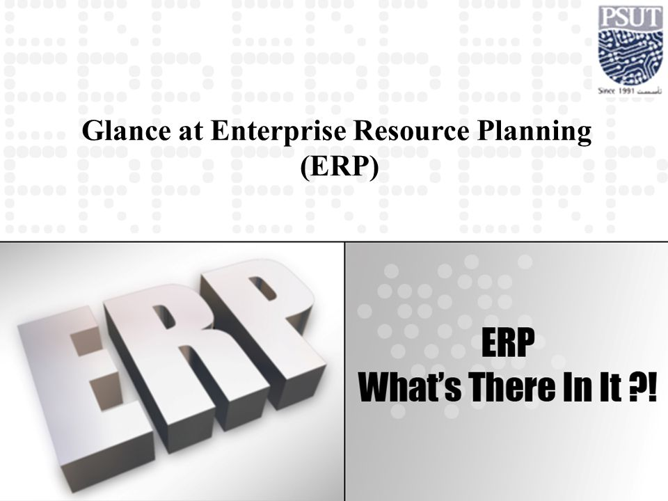 Glance at Enterprise Resource Planning (ERP)