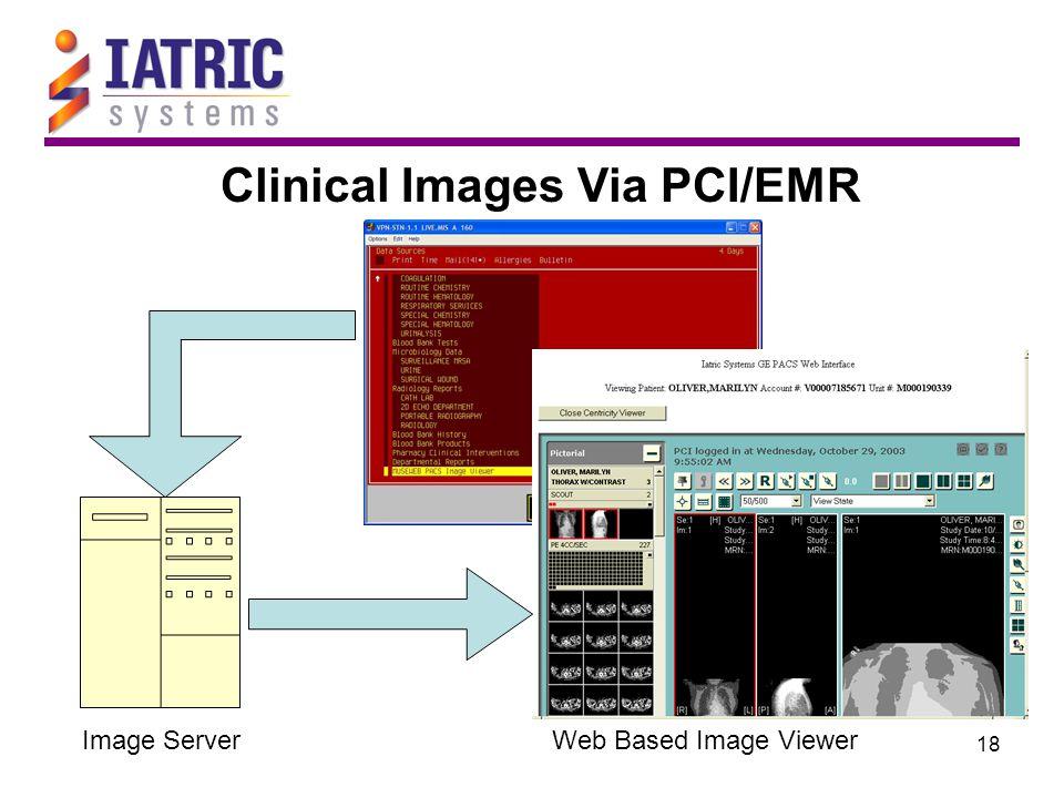 18 Clinical Images Via PCI/EMR Image ServerWeb Based Image Viewer