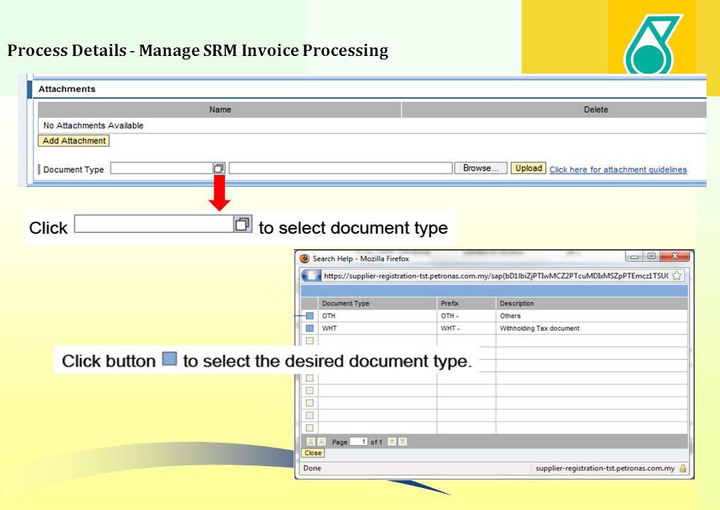 Process Details - Manage SRM Invoice Processing 50