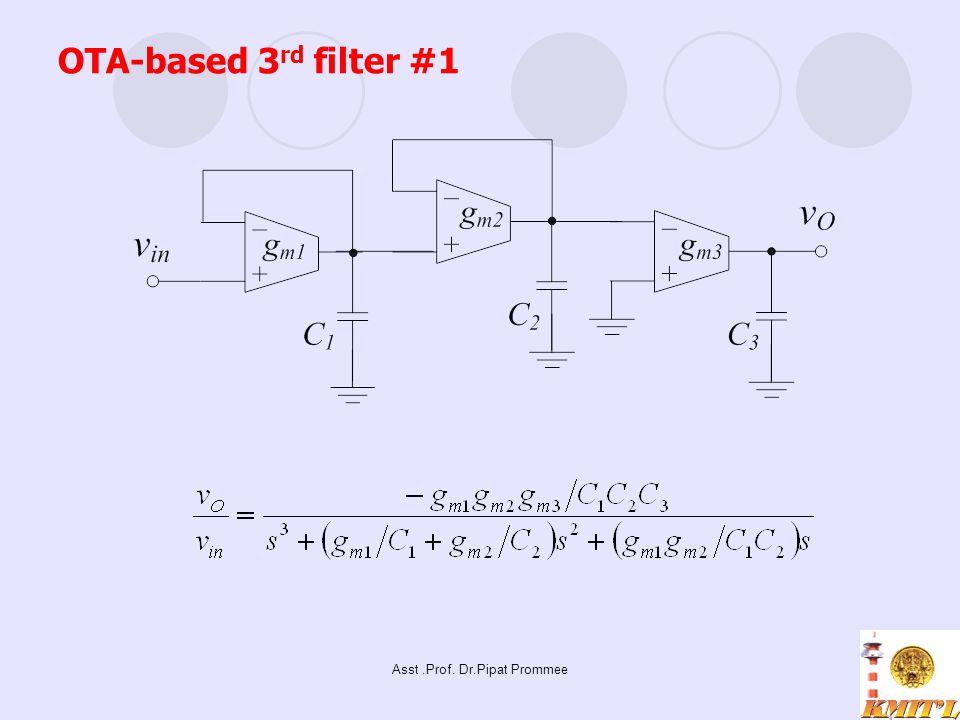 Asst.Prof. Dr.Pipat Prommee OTA-based 3 rd filter #1