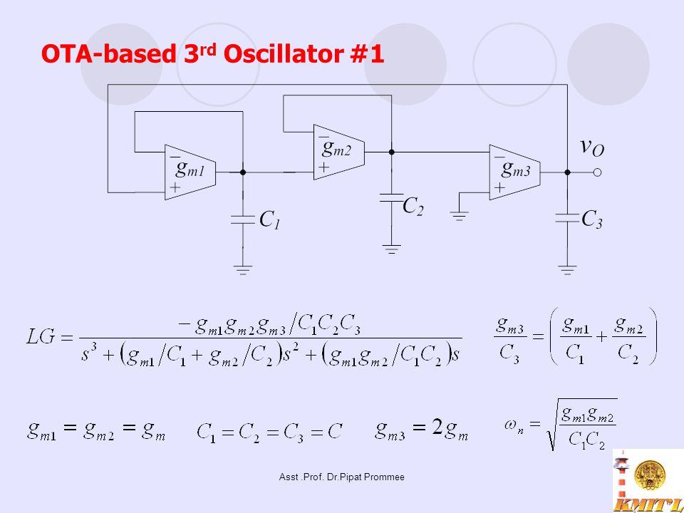 Asst.Prof. Dr.Pipat Prommee OTA-based 3 rd Oscillator #1
