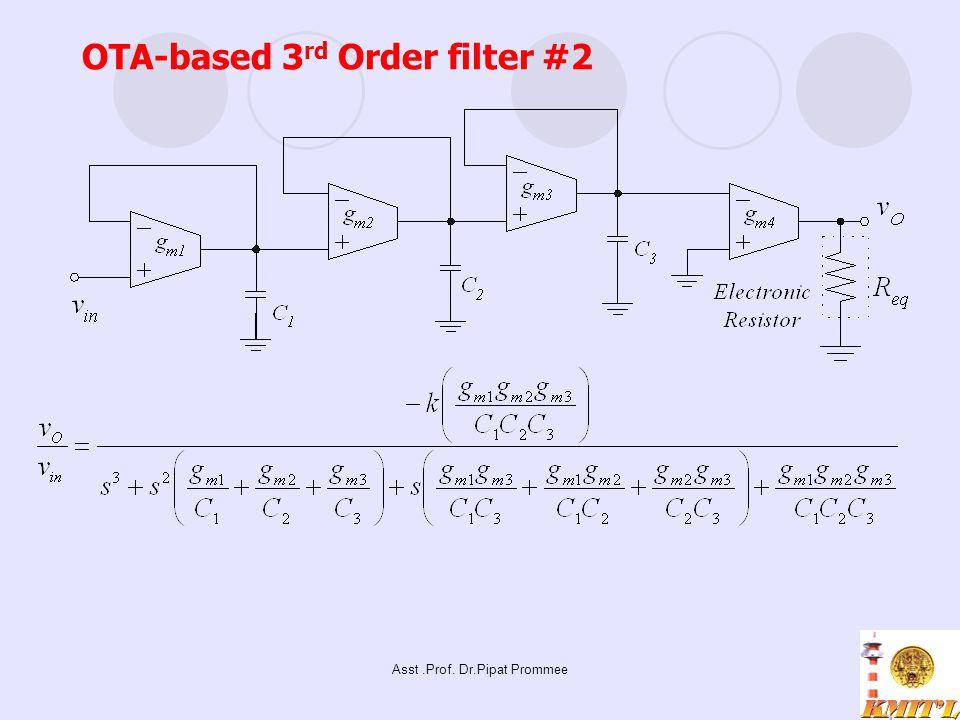 Asst.Prof. Dr.Pipat Prommee OTA-based 3 rd Order filter #2