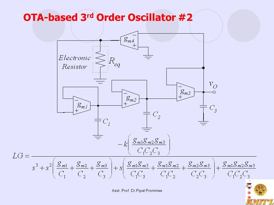 Asst.Prof. Dr.Pipat Prommee OTA-based 3 rd Order Oscillator #2