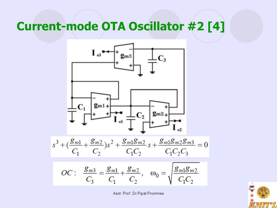 Asst.Prof. Dr.Pipat Prommee Current-mode OTA Oscillator #2 [4]