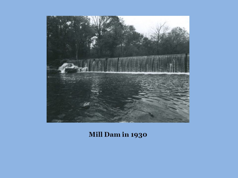 Mill Dam in 1930