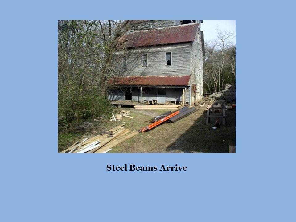 Steel Beams Arrive