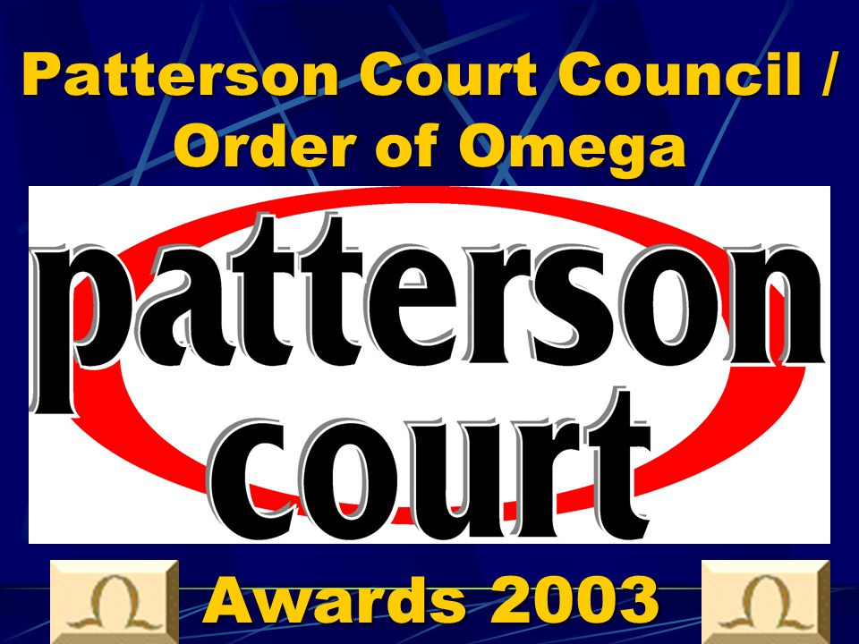 Patterson Court Council / Order of Omega Awards 2003